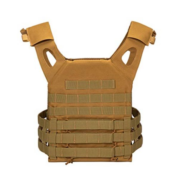Jipemtra Airsoft Tactical Vest 3 Jipemtra Tactical Airsoft Vest for Kids Outdoor Molle Breathable JPC Vest Game Protective Vest Adjustable Modular Chest Set Vest CS Field Vest Training Vest (Black #1)