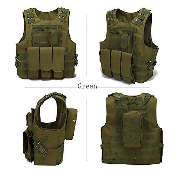 WEQ Airsoft Tactical Vest 3 WEQ Tactical Vest Outdoor Amphibious Vest Ultra-Light Breathable Combat Training Vest Adjustable for Adults(Standard Size) (Color : #D)