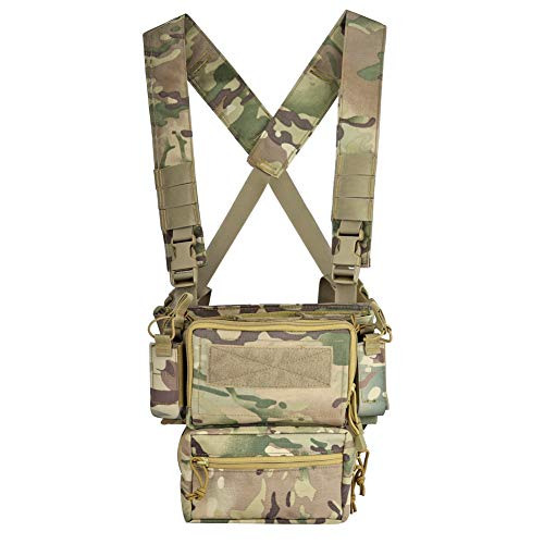 DETECH Airsoft Tactical Vest 1 DETECH Tactical Vest Army Chest Rig Carrier Armor X Harness Rifle Pistol Magazine Pouch CRX Hunting Equipment Accessories