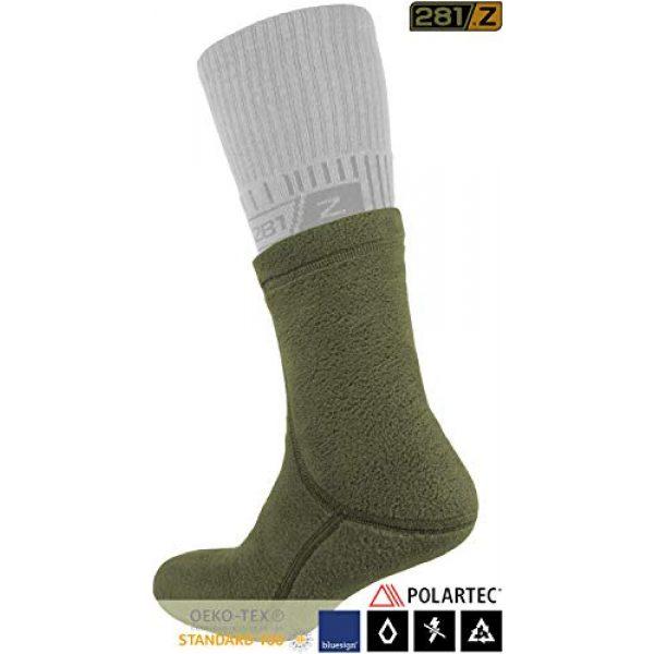 281Z Combat Boot Sock Liner 2 Military Warm 6 inch Liners Boot Socks - Outdoor Tactical Hiking Sport - Polartec Fleece Winter Socks (Green Khaki)