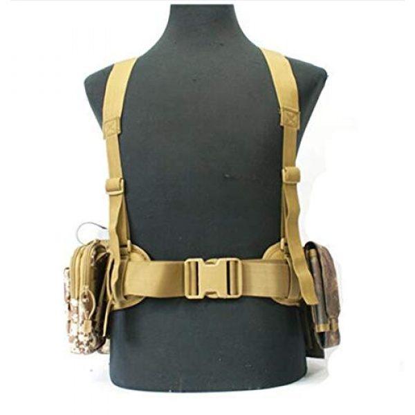 HWZ Airsoft Tactical Vest 4 HWZ Molle Portable Girdle Tactical Belt Nylon Outdoor Multifunctional Tactical Belt Vest