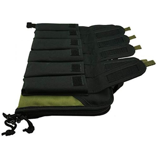 K-Cliffs Pistol Case 4 K-Cliffs Pistol Case Lockable Memory Foam Handgun Storage Pouch Carrying Bag   6 Magazine Pockets Black/Olive