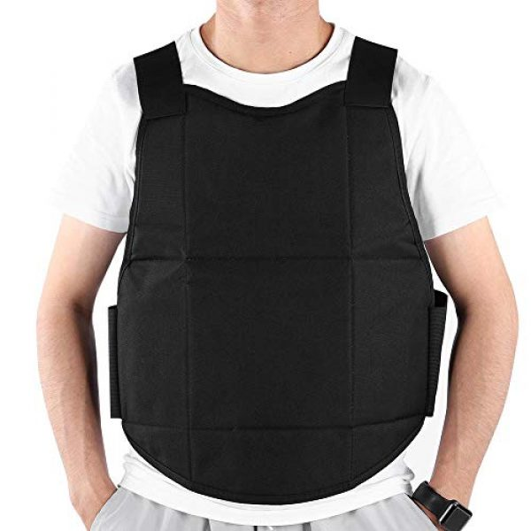 Tbest Airsoft Tactical Vest 4 Tactics Protection Vest, Nylon Black Lightweight Outdoor Shooting Body Tactics Protection Vest for Travelling Jungles Shrubs Archery Sports