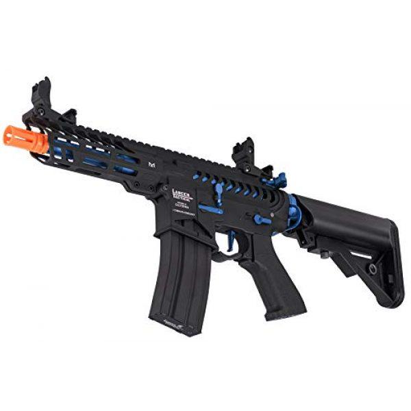 Lancer Tactical Airsoft Rifle 4 Lancer Tactical LT-29BACNL-G2-ME Enforcer AEG Airsoft Rifle Skeleton Black and Navy Blue 350 FPS