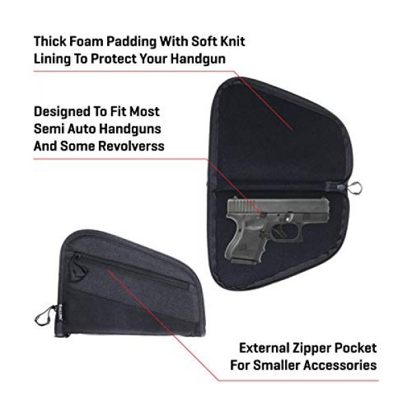Allen Company Pistol Case 3 Allen Company 9 inch Auto-Fit 2.0 Handgun Case, Black