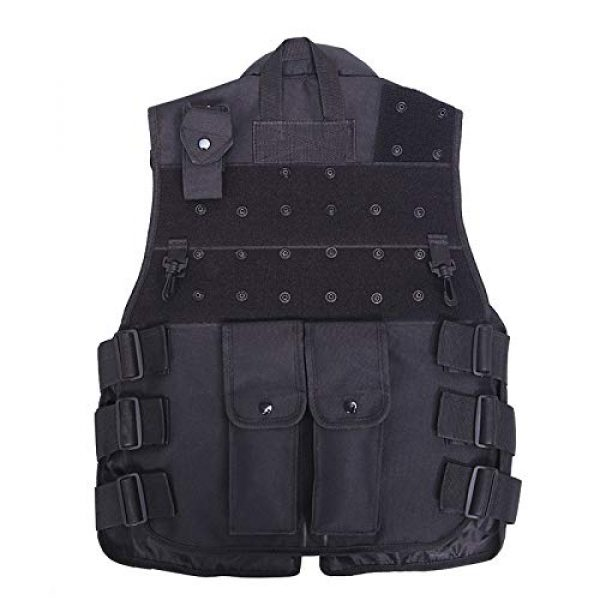 Moontie Airsoft Tactical Vest 4 Moontie Military Tactical Vest, Paintball Camouflage Molle Hunting Vest Assault Shooting Hunting Security Waistcoat