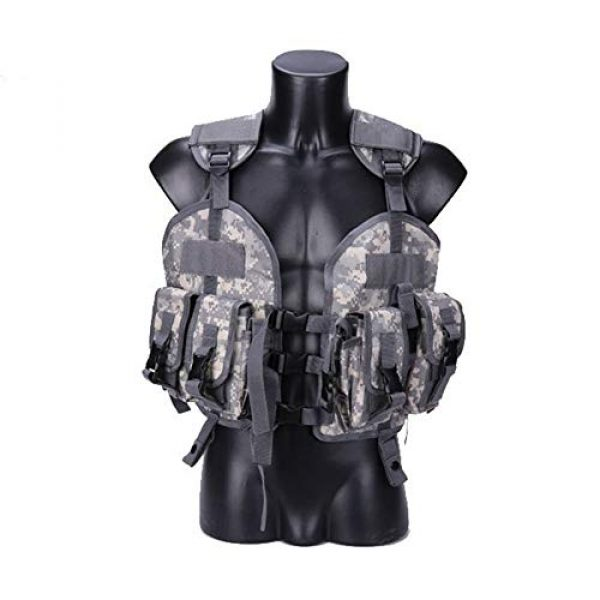 Shefure Airsoft Tactical Vest 5 Shefure The Seal Men Tactical Hunting Armor Vest Combat CS Wargame Military Camouflage Waterproof Water Bag Pouches Tactical Gear