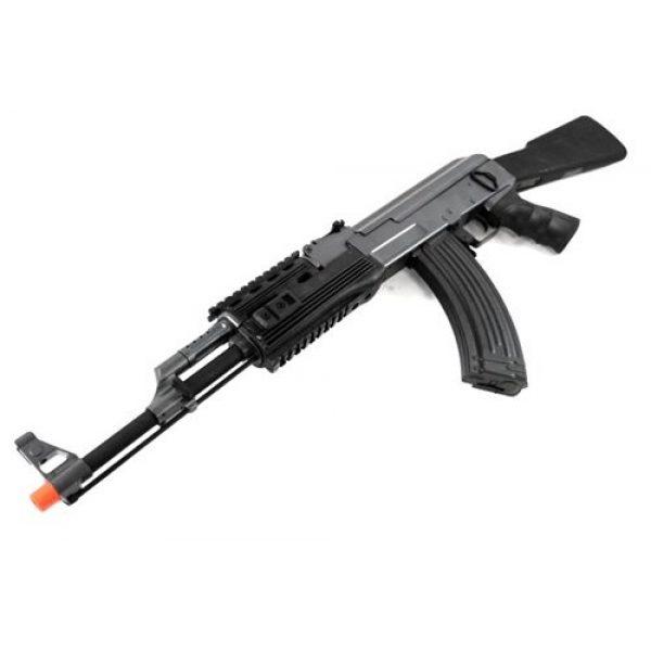 BBTac Airsoft Rifle 6 BBTac BT-AK Tactical RIS AEG w/ Integrated Rail System, Full Metal Gearbox (BLACK)