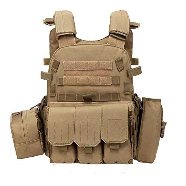BGJ Airsoft Tactical Vest 6 Outdoor Airsoft Gear 6094 Tactical Molle Vest Paintball CS Games Protection Body Armor Military Shooting Combat Training Vest