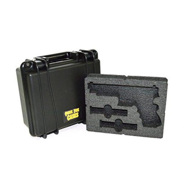Quick Fire Cases Pistol Case 2 Quick Fire Cases QF300G4L Pistol Case, Black, Small