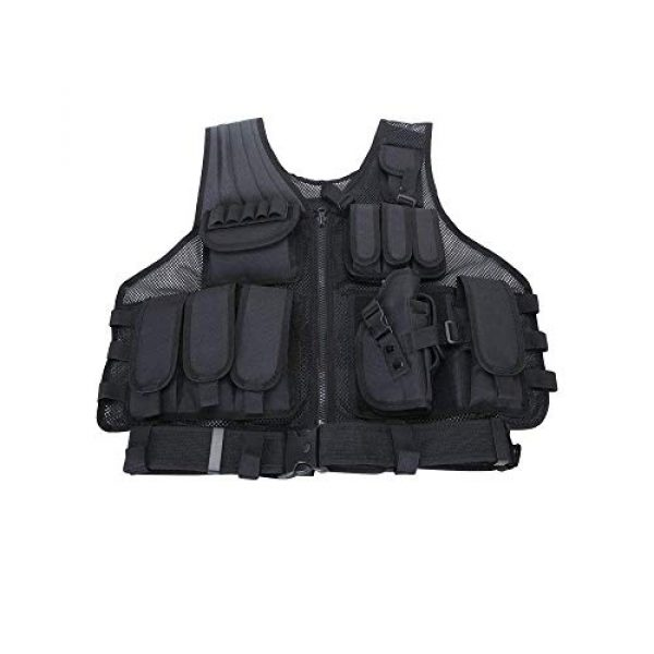 NEW VIEW Airsoft Tactical Vest 3 New View Tactical Vest Multi-Function Combat Training Suit with Multiple Pockets for 600D Encryption Nylon
