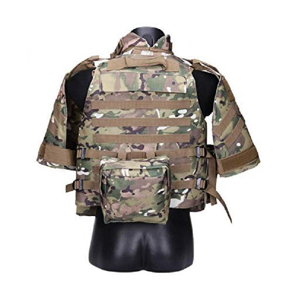 BGJ Airsoft Tactical Vest 5 Tactics Camouflage Vest Phantom Protective Modular Vest Body Armor Airsoft Wargame Hunting Outdoor Sports Activities