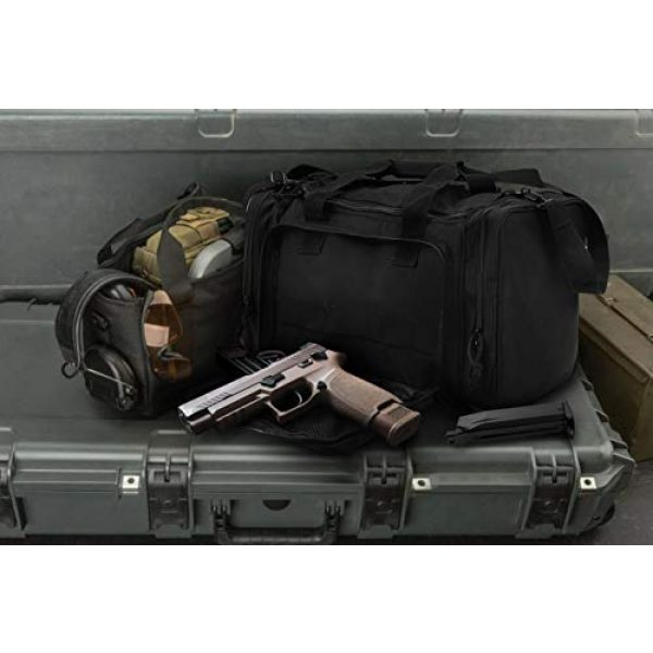 GUAWIN Pistol Case 7 Range Bag Tactical Bag Gun Bag for Handguns Pistol Durable Water Resistant Tactical Duffle Bag with Magazine Gear Accessories Pouch Suitable for Shooting Range, Hunting, Storage and Transport