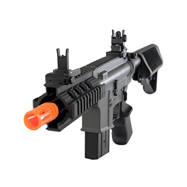MetalTac Airsoft Rifle 1 MetalTac Electric Airsoft Gun M4 Stubby CQB JG-F6632 with Rail Mounting System, Metal Gearbox Version 2, Full Auto AEG, Upgraded Powerful Spring 380 Fps with .20g BBS