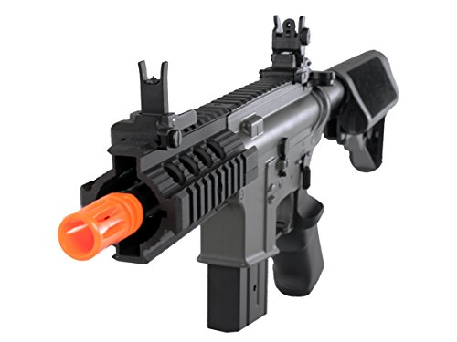 MetalTac  1 MetalTac Electric Airsoft Gun M4 Stubby CQB JG-F6632 with Rail Mounting System