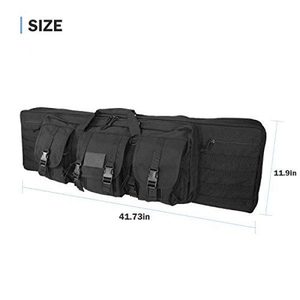 ProCase Rifle Case 6 ProCase Double Rifle Bag, Tactical Long Rifle Pistol Gun Firearm Transportation Carbine Case w/Backpack, MOLLE, Lockable Compartments