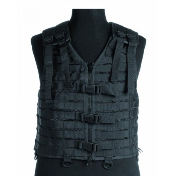 Mil-Tec Airsoft Tactical Vest 1 Military Tactical Carrier MOLLE Vest Modular Airsoft Webbing