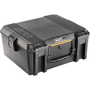 Pelican Pistol Case 1 Vault by Pelican - V600 Large Pistol/Equipment Case with Foam (Black)