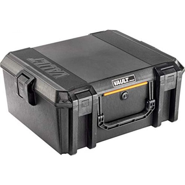 Pelican Pistol Case 1 Vault by Pelican - V600 Large Pistol/Equipment Case with Foam (Black)