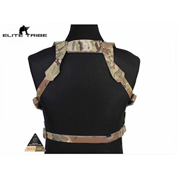 Elite Tribe Airsoft Tactical Vest 4 Tactical Vest Easy Chest Rig Military Carrier Vest Multicam
