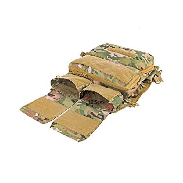 OAREA Airsoft Tactical Vest 7 OAREA TMC Multicam Pouch Bag Zip Panel NG Version for 16-18 AVS JPC2.0 CPC Tactical Vest
