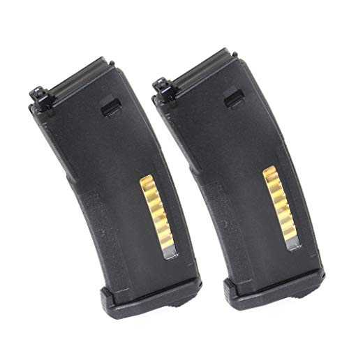 Generica  1 Airsoft Spare Parts PTS 2pcs EPM 120rd Enhanced Polymer Magazine for Systema PTW M4 M16 Series