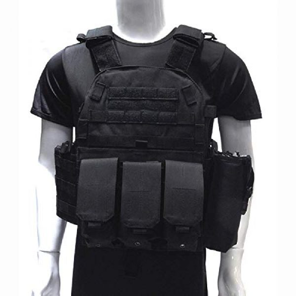 BGJ Airsoft Tactical Vest 7 Tactical 6094 Molle Vest Military Combat Body Armor Vest Army Airsoft Paintball Wargame Plate Carrier Vest Hunting Accessories