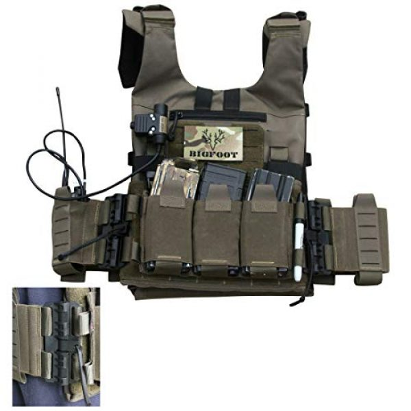 YIFAN Airsoft Tactical Vest 1 YIFAN Tactical Shooting Range Training Vest for Men Quick Release, 500D Nylon Outdoor Vest with Pockets for Combat Training, Field Operations, Hunting, Travel