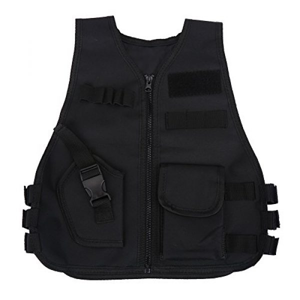 Wbestexercises Airsoft Tactical Vest 1 Wbestexercises Kids Tactical Molle Vest Adjustable Combat Vest Jacket Breathable Children Protective Waistcoat for Outdoor Hunting Combat Games S, L