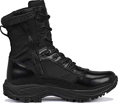 """Belleville Tactical Research TR Combat Boot 3 Belleville Tactical Research TR Men's Class-A TR908Z 8"""" Hot Weather High Shine Side-Zip Boot"""