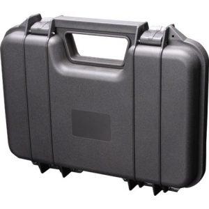 A&N Pistol Case 5 A&N Gun Pistol Handgun Firearm Revolver Hard Durable Portable Lockable Case Safe - Black Red Tan