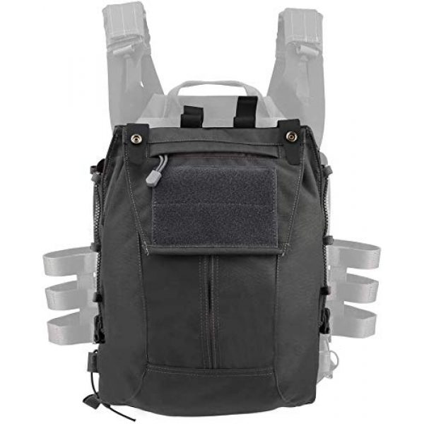 LEJIE Airsoft Tactical Vest 3 Tactical JPC MOLLE Protective Vest with Removable Large Capacity Backpack for Airsoft Paintball Hunting