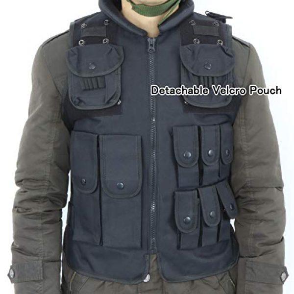 Sutekus Airsoft Tactical Vest 2 Sutekus Tactical Vest for Outdoor Paintball Airsoft Game Combat Training & Costume