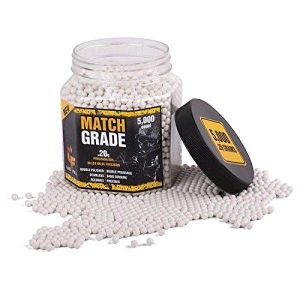 Game Face Airsoft BB 2 Game Face 20GPW5J Match Grade .20-Gram White Airsoft BBs (5000-Count)