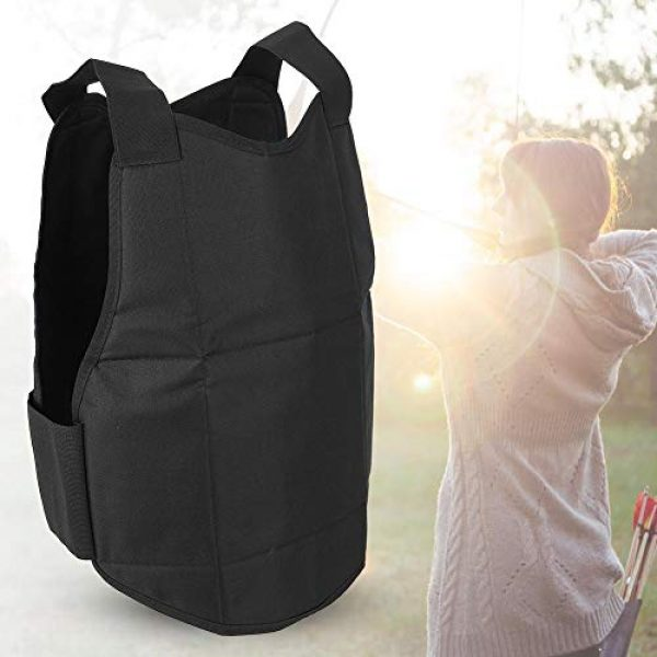 Tbest Airsoft Tactical Vest 5 Tactics Protection Vest, Nylon Black Lightweight Outdoor Shooting Body Tactics Protection Vest for Travelling Jungles Shrubs Archery Sports