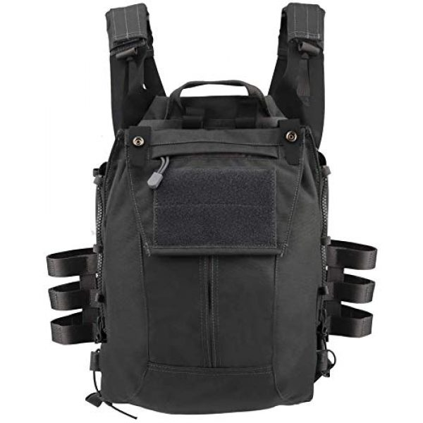 LEJIE Airsoft Tactical Vest 2 Tactical JPC MOLLE Protective Vest with Removable Large Capacity Backpack for Airsoft Paintball Hunting