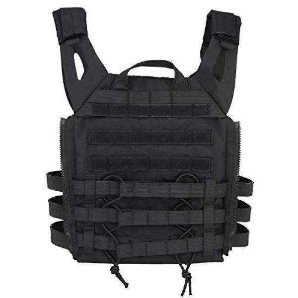 DETECH Airsoft Tactical Vest 4 DETECH Molle Adaptive Vest JPC Tactical Hunting Airsoft Vest Multicam Black