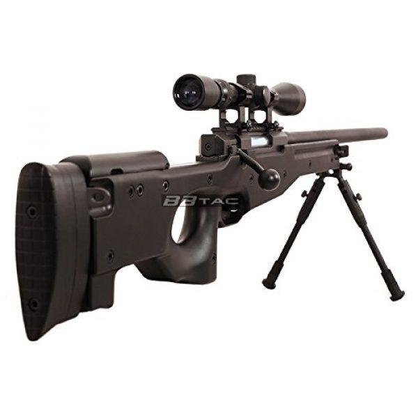 BBTac Airsoft Rifle 3 BBTac b96 awp airsoft sniper rifle with 3-9x40 scope and bi-pod warrior 1(Airsoft Gun)
