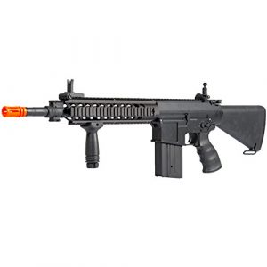 MetalTac Airsoft Rifle 1 MetalTac JG FB-6651 SR25K Electric Airsoft Gun Sniper Rifle, Full Metal Body, Metal Gearbox Version 2, Auto AEG, Upgraded Powerful Spring 410 Fps with .20g BBS