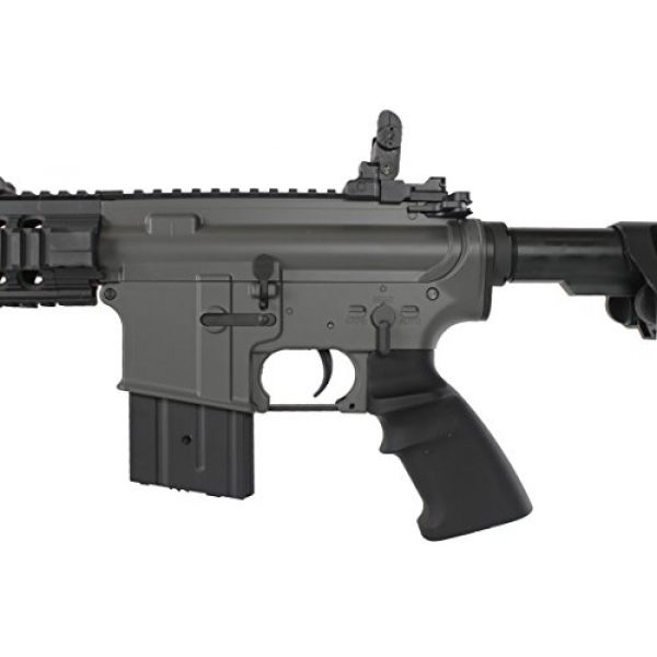 MetalTac Airsoft Rifle 6 MetalTac Electric Airsoft Gun M4 Stubby CQB JG-F6632 with Rail Mounting System, Metal Gearbox Version 2, Full Auto AEG, Upgraded Powerful Spring 380 Fps with .20g BBS