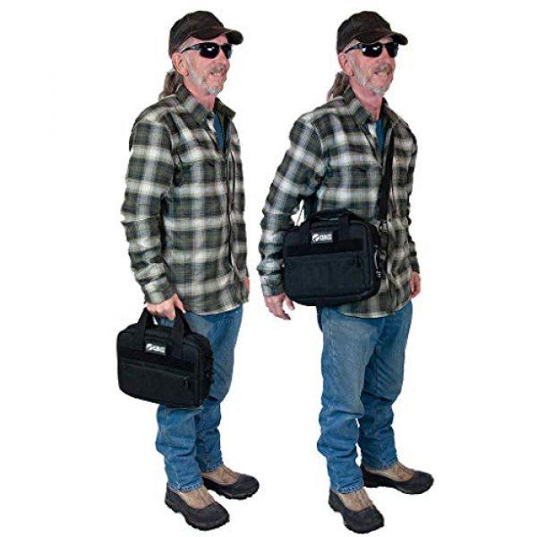 First Choice Gear Pistol Case 6 Pistol Case Range Bag for Handguns by FirstChoice - 2 to 4 Gun Padded Tactical Handgun Shooting Soft Case, Lockable Zippers w/Padlock, 3 Mini-Holsters, 8 Mag Slots, 4 Pockets, w/Range Mat