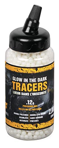 Game Face Airsoft BB 1 GameFace SAP2KGLW Tracer .12-Gram Glow In The Dark AirSoft BBs (2000-Count)