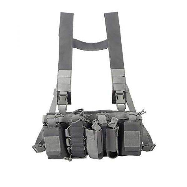 WEQ Airsoft Tactical Vest 1 WEQ Multifunctional Tactical Vest Outdoor Equipment Tactical Chest Hanging Combat Training Vest (Color : #F)