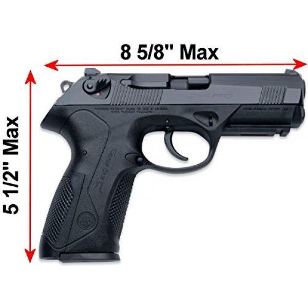 Case Club Pistol Case 4 Case Club Waterproof Pre-Customized 2 Pistol Case with Silica Gel to Help Prevent Gun Rust