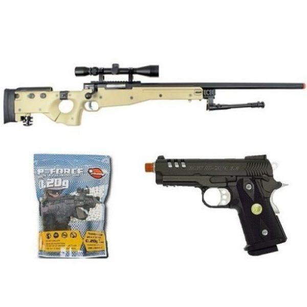 Well Airsoft Rifle 1 Well bolt action sniper airsoft rifle we metal gas CO2 blowback gun 5,000 bb's(Airsoft Gun)