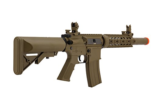 Lancer Tactical  3 Lancer Tactical Airsoft M4 SD GEN 2 Polymer AEG - TAN
