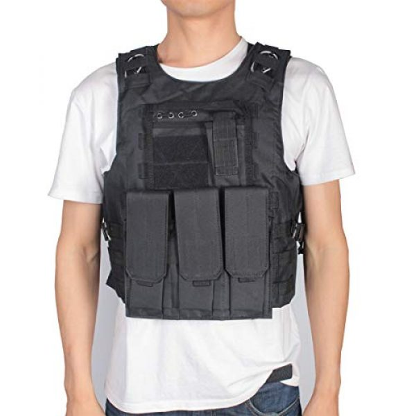 KIDYBELL Airsoft Tactical Vest 3 KIDYBELL Black Adjustable Airsoft Vest Lightweight Oxford Cloth Tactical Training Vest is Suitable for Outdoor Hunting Army Fan Combat Training Airsoft and Other Outdoor Sports