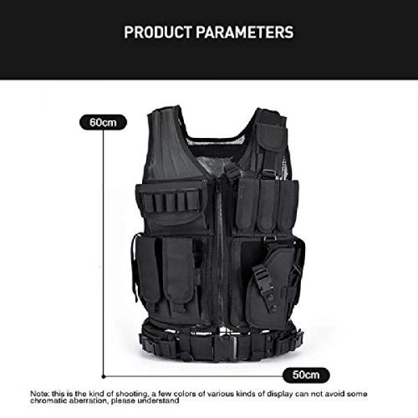 BGJ Airsoft Tactical Vest 6 BGJ Army Tactical Equipment Military Molle Vest Hunting Armor Vest Airsoft Gear Paintball Combat Protective Vest Camping Equipm
