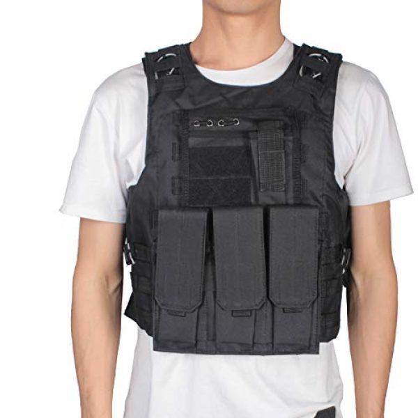 mimeng Airsoft Tactical Vest 3 mimeng Tactical Protective Vest CS Outdoor Training Equipment Fishing Hunting Strength Training Safety Protective Vest