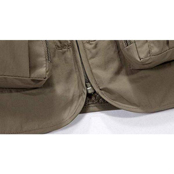 DAFREW Airsoft Tactical Vest 6 DAFREW Men's Casual Vest Outdoor Photography Vest Quick Dry Multi-Pocket Vest (Color : Khaki, Size : XL)